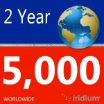 Iridium Global Prepaid Airtime SIM Card (5000 Minutes)
