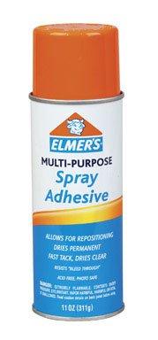 Elmer's E451 6 Piece Acid Free Multipurpose Adhesive Spray Set, 11 oz Capacity, Clear