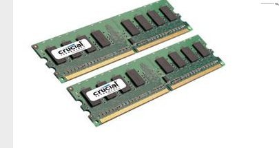 CRUCIAL CT2KIT12864AA800 2GB ( 1GB x 2 ) 240-pin DDR2 800mhz Non-ECC 1.8V CL6 Desktop Memory Module by Crucial