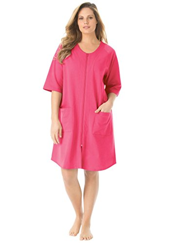 14666aea8674 Dreams & Co. Women's Plus Size Short French Terry Robe