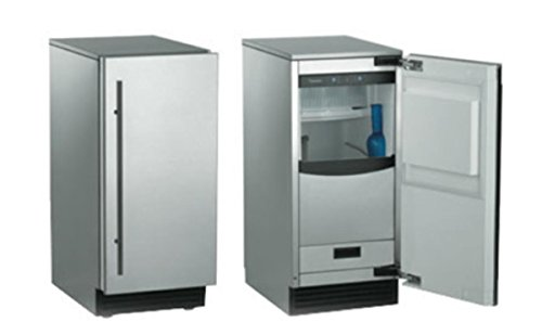 Ice Maker Undercounter Scotsman (Scotsman SCN60PA-1SS Brilliance Nugget Ice Machine Door Finish: Stainless Steel, Drain Type: Pump)