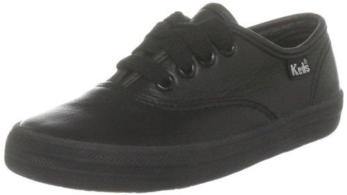 Keds Kids Keds Ch CVO kt30060 - Zapatos para bebé de cuero para niña, color negro, talla 8 Child UK