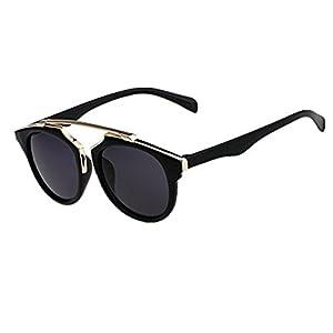 Woman's Retro Style Sunglasses Plastic Frame Glasses Lady Outdoor Uv400 Grey