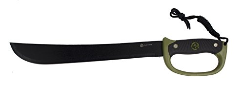 Puma XP Bush23 Machete Black/Green Comolded Rubber Handle with Ballistic Nylon Sheath (D-handle Machete)