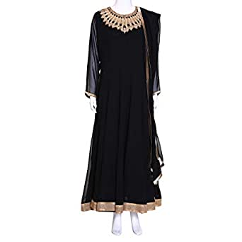 Kalaniketan Black Casual Anarkali Set For Women