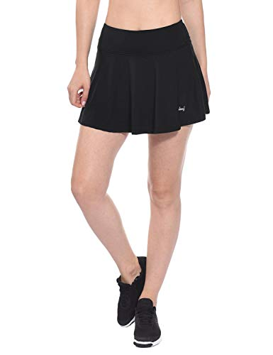 5f4517f7869 Baleaf Women s Athletic Pleated Tennis Golf Skirt with Pockets Black Size S