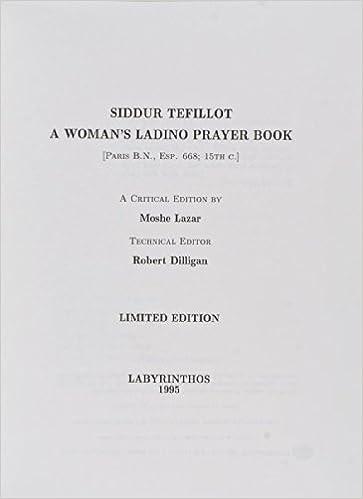 Amazon in: Buy Siddur Tefillot: A Woman's Ladino Prayer Book (The