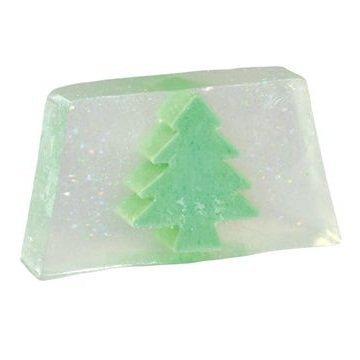 Glycerine Soap Slice - Glittery Christmas Tree Snowmusk Glycerin Soap Slice - Bath Bubble & Beyond 100g by Bath Bubble & Beyond