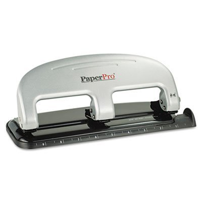 Accentra Three Hole Punch - 20-Sheet Capacity ProPunch Three-Hole Punch, Black/Silver, Sold as 1 Each