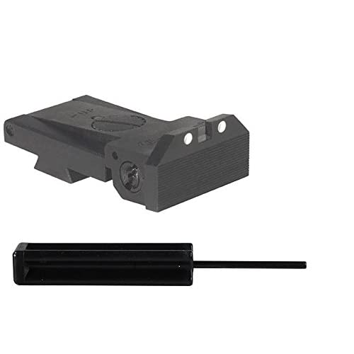 Kensight 860-006 1911 BoMar BMCS White Dot Rear Sight With Beveled Blade + Ultimate Arms Punch Tool