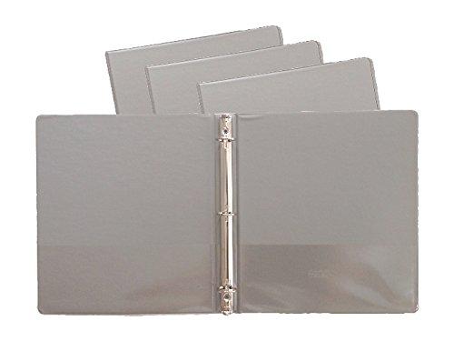 (Gray Vinyl Standard 3-Ring Binders, 1-Inch, for 8.5