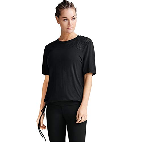 Ellos Women's Plus Size Mesh Tee - Black, 22/24