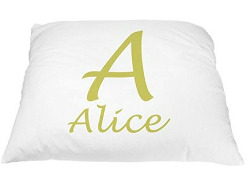 Personalized Font Pillowcase Microfiber Polyester Standard 20 by 30 Inches, Monogrammed Pillowcases, Custom Pillow Cases Personalized, Decorative Pillows for Girls, Personalized Monogram, Name Pillows