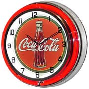 Coca Cola, Neon Clock, Bright Double 18 inch Neon by Telstar Neon