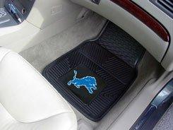 Detroit Lions NFL Front & Rear Car Truck SUV Vinyl Car Floor Mats - 4PC