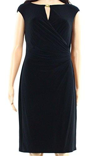 Neck Matte Jersey (Lauren Ralph Lauren Womens Boat Neck Matte Jersey Cocktail Dress Black 8)