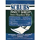 Scrubs 91401 Insect Shield Insect Repellent Wipes, 8 x 10, White, 100/Carton