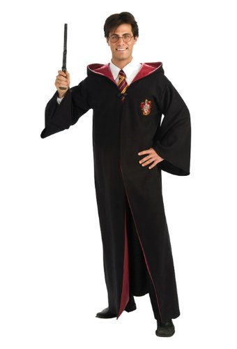 Harry Potter Quidditch Halloween Costumes (Rubie's Harry Potter Adult Deluxe Gryffindor Costume Robe, As Shown,)