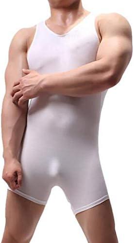 メンズワンピースアンダーウェアノースリーブレオタードボディースーツボディービルトレーニングレスリング一重項ジャンプスーツ