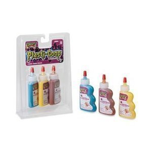 Creepy Crawlers Goop 3 Pack Plasti-Goop with Teal, Yellow and ()