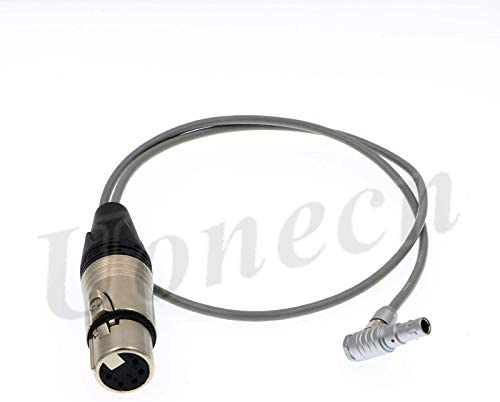 Uonecn XLR 5 Pin Female to Right Angle 5 Pin Female Audio Cable for ARRI Alexa Mini Camera