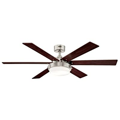 7876400 Alloy 42-Inch Gun Metal Indoor Ceiling Fan, Light Kit with Opal Frosted Glass