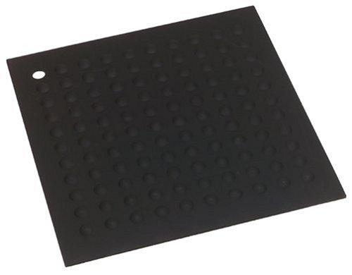 Lamson Big HotSpot Pot Holder/Counter Protector/Large Trivet, 11.5'' x 11.5'', Black, Silicone