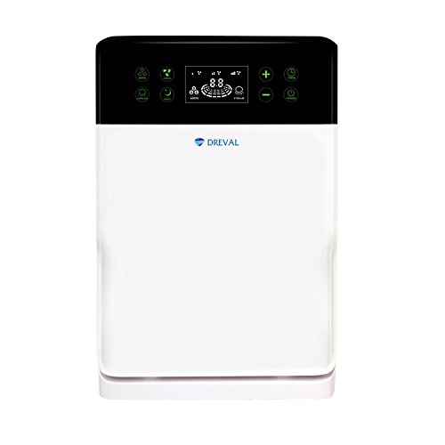 Dreval D-903 HEPA Air Purifier 6 Stage Filter Process For 99.97 Percent Purified Surrounding High Efficiency Filter UV Sterilization Negative Ion Anion Generator Automatic Fan Speed Remote Controlled