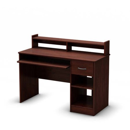 - Royal Cherry Small Desk, 2 Adjustable Shelves, Sliding Keyboard, Mouse Tray, Metal Handle, Laminated Particle Board, Home, Office, Bundle with Our Expert Guide with Tips for Home Arrangement
