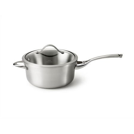 Calphalon Contemporary Stainless 2-1/2-Quart Saucepan with Glass Lid