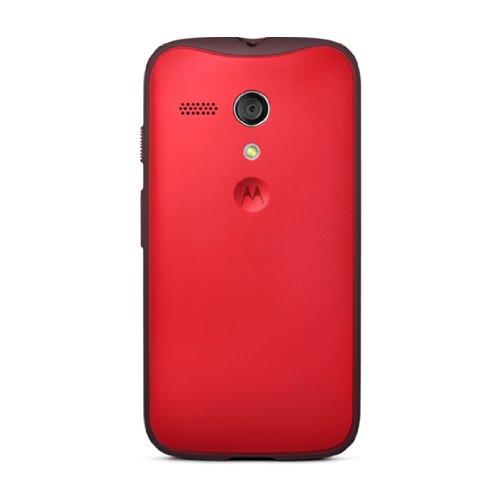 Motorola Grip Shell for Moto G - Retail Packaging - Red + Red TPU (Motorola Shells Moto E)