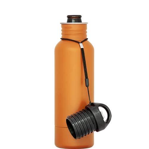 - BottleKeeper - The Standard 2.0 - The Original Stainless Steel Bottle Holder and Insulator to Keep Your Beer Colder (Orange)