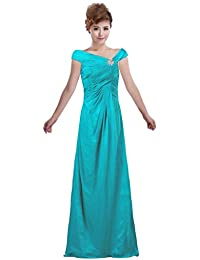 ANTS Women's Chiffon Long Mother of Bride Dress with Sleeves