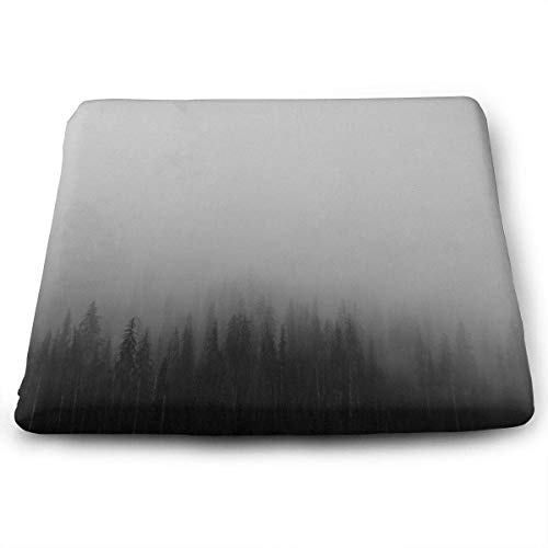 (Seat Cushion for Office Chair, Cozy Forest Tree Fog Sophia Chair Pads/Square Cushion for Truck Driver,Kitchen Chairs,Car,Office)