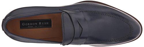 Gordon Rush Men's Brock Penny Loafer Navy Leather eJq9fFHoip