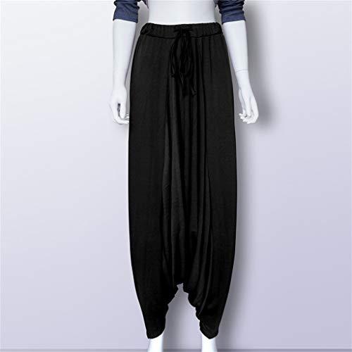 Donna Plus Larghi Leggings Size Tinta Yoga Casual Unita Pantaloni Nero Harem 1wxqRH