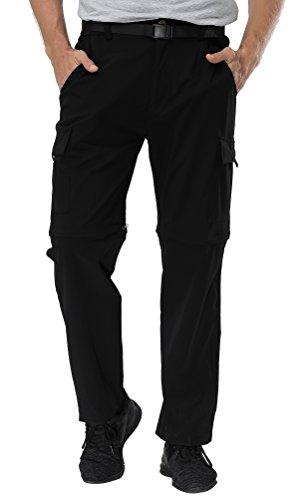 Binhome Men's Outdoor Quick Drying Convertible Hiking Pants (BH-Men003PantsBlack-XL)