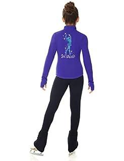Mondor Model 24488 Polartec Skating Jacket with Sequin Applique Black Size Child 6X-7