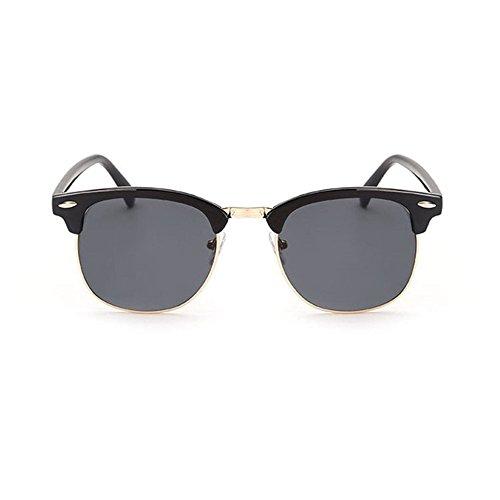 Aoligei Riz de Vintage classique nail color film fashion tendance lunettes de soleil réfléchissantes centaines tour lunettes de soleil B
