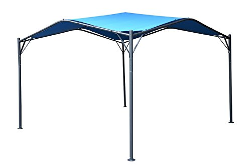 Blue Gazebo (Mefo garden Gazebo Outdoor Canopy Patio Swan , 12 x 12 ft, Blue)