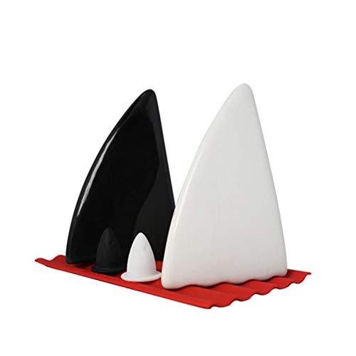 2pcs Creative Ceramics Shark Fins Salt Sugar Spice Pepper Shaker Seasoning Cans - Pepper Shaker