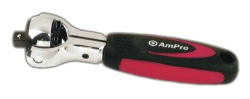 Ampro T19002 1/2-Inch Drive Stubby Spinner Ratchet by Ampro Tools (Image #1)