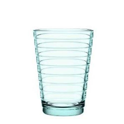 Iittala Aino Aalto Set of Two Glass Tumblers, Water Green, 11-Ounce Capacity each by Iittala