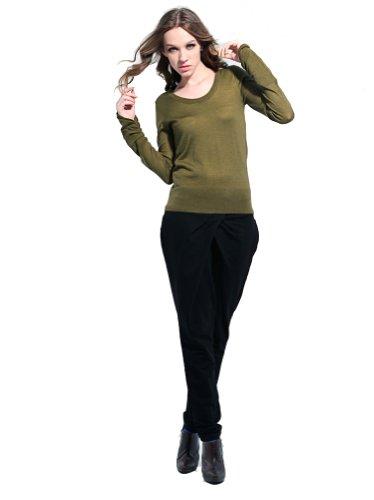 Eros Mujer Suéter de lana mezcla Verde