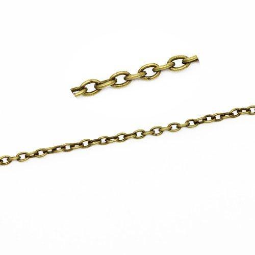 CH1575 10 Metre Bronze Antique Alliage M/étal 2.5 x 3.5mm Cha/îne De C/âble Charming Beads