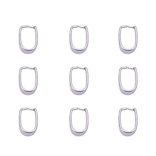 PandaHall Elite 10 Pieces 304 Stainless Steel Pinch Clip Bail Clasp Dangle Charm Bead Pendant Connector Findings 13x7x9mm for Jewelry Making