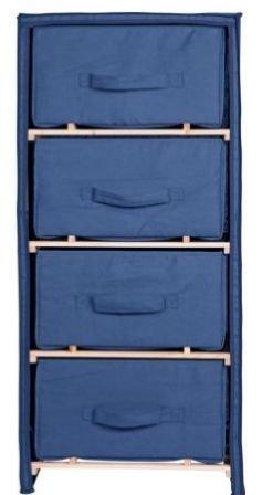 Canvas 4 Drawer Chest Storage Unit Blue Polycotton u0026 Wood Bedroom Furniture  sc 1 st  Amazon UK & Canvas 4 Drawer Chest Storage Unit Blue Polycotton u0026 Wood Bedroom ...