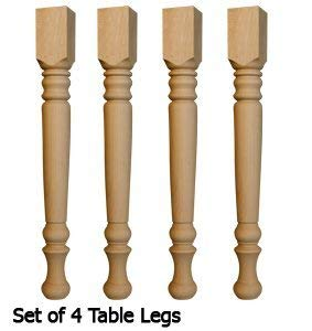 Farm Dining Table Legs (Set of 4) in Soft Maple -