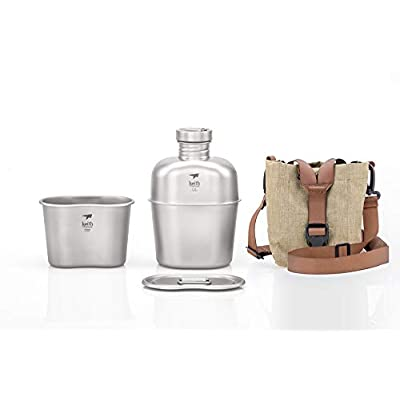 Image of Canteens Keith Titanium Ti3060 Canteen Mess Kit - New Ultralight Carrying Pouch