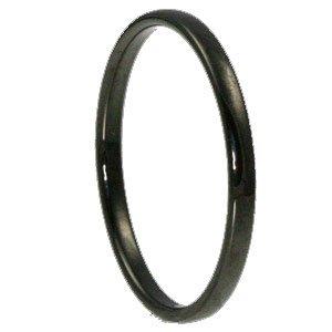 Classic Dome Black Tungsten Ring